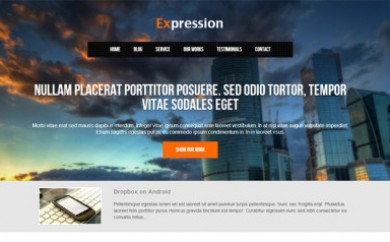 wordpress one page themes
